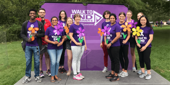 Lab members at the walk to end Alzheimer's